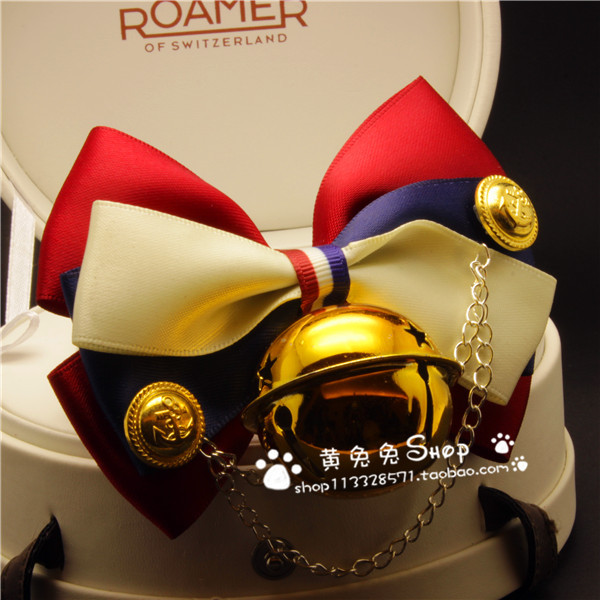 2015 Autumn And Winter New Products Yellow Bunny Handmade Pet Tie Accessories Dog Bell Neck Ring Bow Elegant England