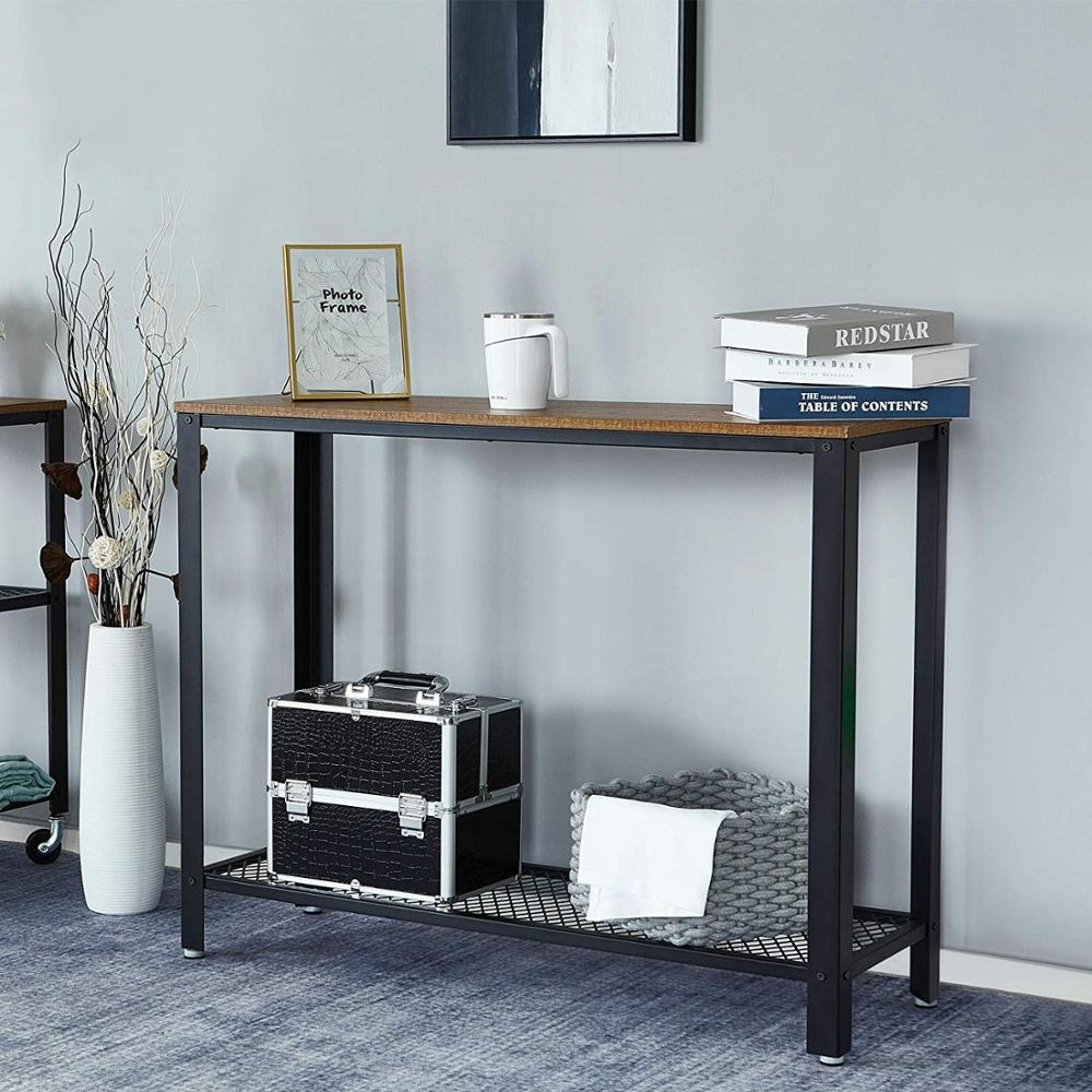 Console Table Hallway Table Side Table Sideboards for Living Room Corridor Entryway Table Furniture Wood Desktop Metal Frame