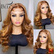 Beeos 180% 13*6 парик из человеческих волос на сетке спереди