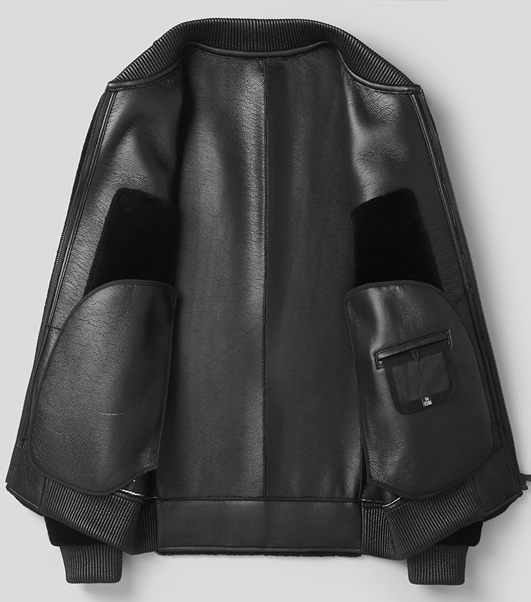 Real Sheep Shearling Fur Coat Autumn 2020 Winter Jacket Men 100% Wool Coats Streetwear Baseball Leather Jackets MY1421