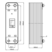 100 пластинчатых паяных пластинчатых теплообменников, 9.31m2 водяных теплообменников, 316L чиллер из нержавеющей стали