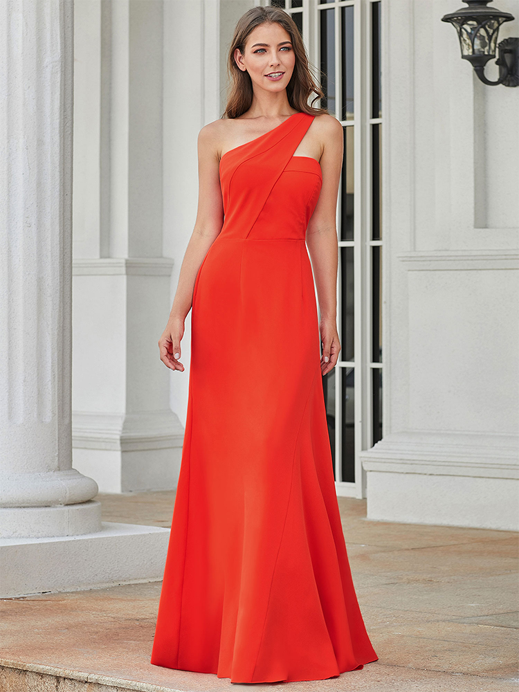 Party-Gowns Evening-Dresses Ever Pretty Abendkleider A-Line Ruched Sexy Long One-Shoulder