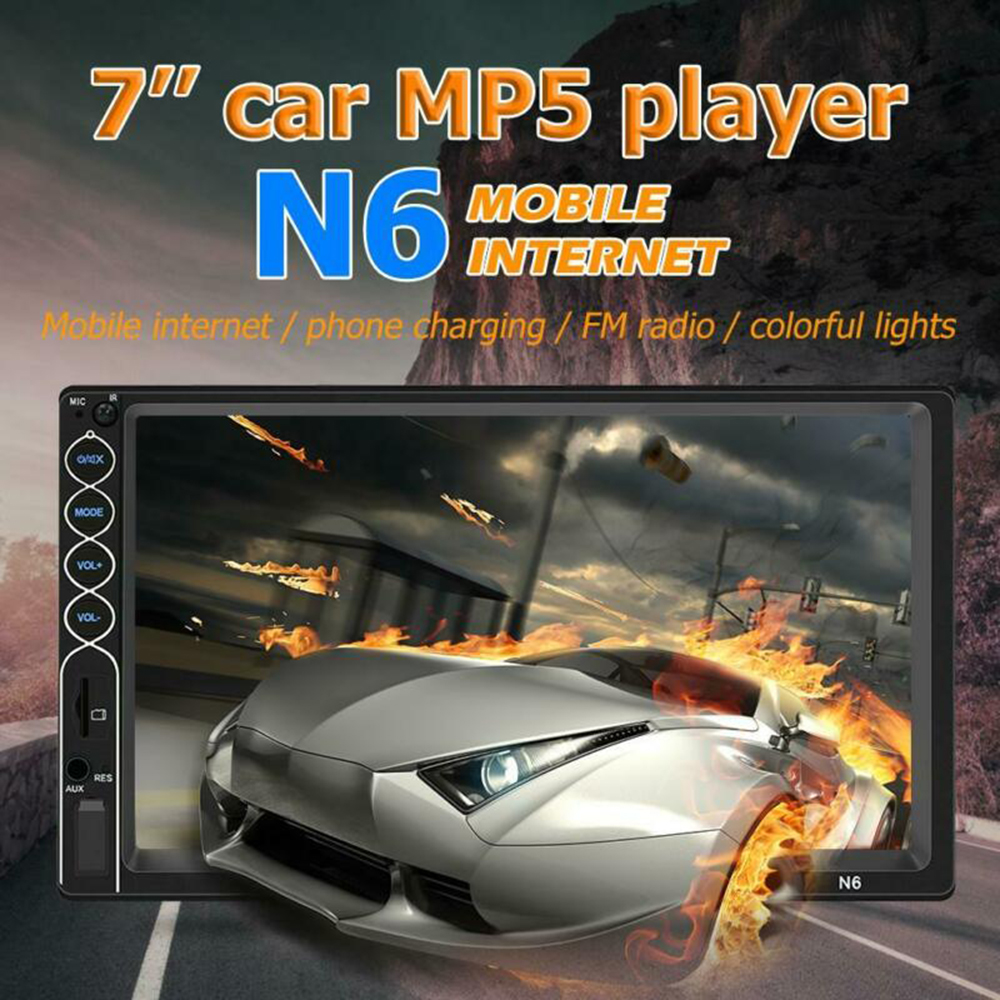 N6 Double DIN 7 Inch Touch Screen Car Auto Mp5 Player Usb/tf CAR-BT Bluetooth
