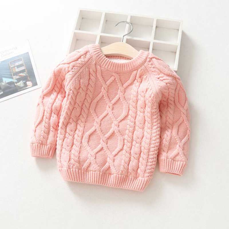 Kids Boys Girls Sweater Autumn Long Sleeve Knitwear Tops Clothes 2021 Winter Thick Warm Kids Add Wool Baby Boy Girls Sweater 3