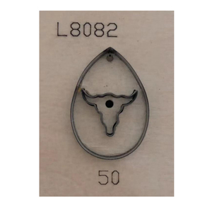 Image 3 - 日本鋼の刃レザーダイカットoxheadと穴雄牛ヘッド形状ペンダントテンプレートパターンdiyイヤリング用品