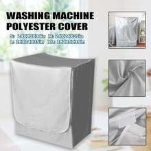 Cover Washer Washing-Machine-Cover Sun-Protection Dustproof Sunscreen Case Silver L/XL