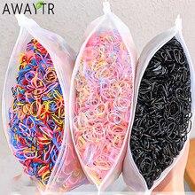 1000 pz/pacco ragazze colorate piccoli elastici monouso gomma per porta coda di cavallo elastici per capelli accessori per capelli moda