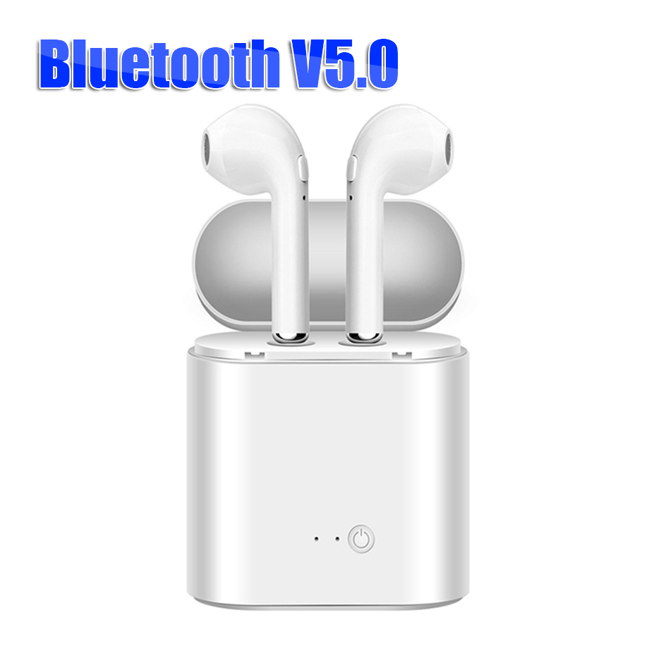 I7s TWS Bluetooth Earphone Wrieless Headset Mini Sport Music Portable Stereo Headset Bluetooth 5.0 Charging Box For Smart Phones