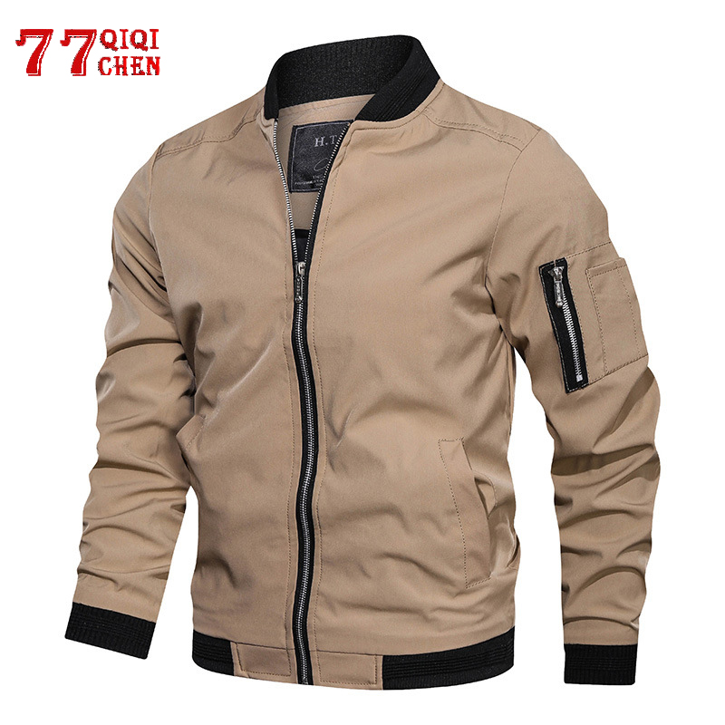 Mens Jackets And Coats Bomber Jacket Spring Autumn Men's Zipper Coat 2020 Casual Plus Size 5XL Stand Collar Jaqueta Masculina