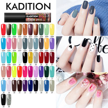 Kadition Baru 5 Ml Gel Polish untuk Warna Kuku Gel Polandia Set untuk Manikur DIY Top Base Coat Hybird Desain kuku Primer Gel Varnish(China)