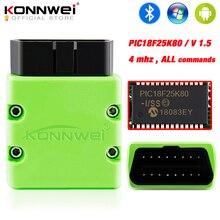 KONNWEI ELM327 V1.5 OBD2 Scanner KW902 Bluetooth Auto Scanner PIC18f25k80 MINI ELM 327 OBD 2 KW902 Code Reader for Android Phone