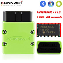 Konnwei elm327 v1.5 obd2 scanner kw902 bluetooth autoscanner pic18f25k80 mini elm 327 obdii kw902 leitor de código para o telefone android