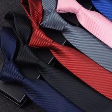 Cravate à rayures pour hommes, 8cm, couleur unie, mode, costume de mariage, fête d'affaires, classique, Slim, noir, accessoires de costume de chemise