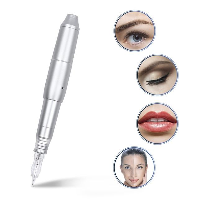 Горячее предложение, новинка, профессиональная ручка CQ003 с переключателем, Перманентный макияж, машина, ручка с иглами для бровей, губ, ручка, 3D микробейд, тату, набор пистолета