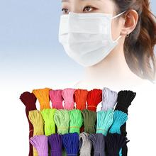 2mm 45/ Colorful Mask Elastic Band Heavy Stretch Band Cord Mask Ear Hanging Rope For Sewing Crafts DIY Mask Cuff Accessories mask elastic bands 2mm colorful round hair elastic rope high quality rubber line diy sewing crafts accessories elastic cord