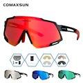 COMAXSUN профессиональные поляризационные очки 5 Len для велоспорта MTB дорожный велосипед спортивные зеркальные солнцезащитные очки велосипедн...