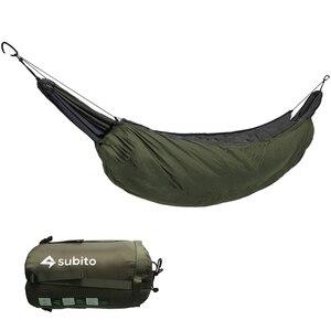 Image 1 - Rede portátil saco de dormir underquilt hammock térmica sob cobertura de isolamento de rede acessório para acampamento