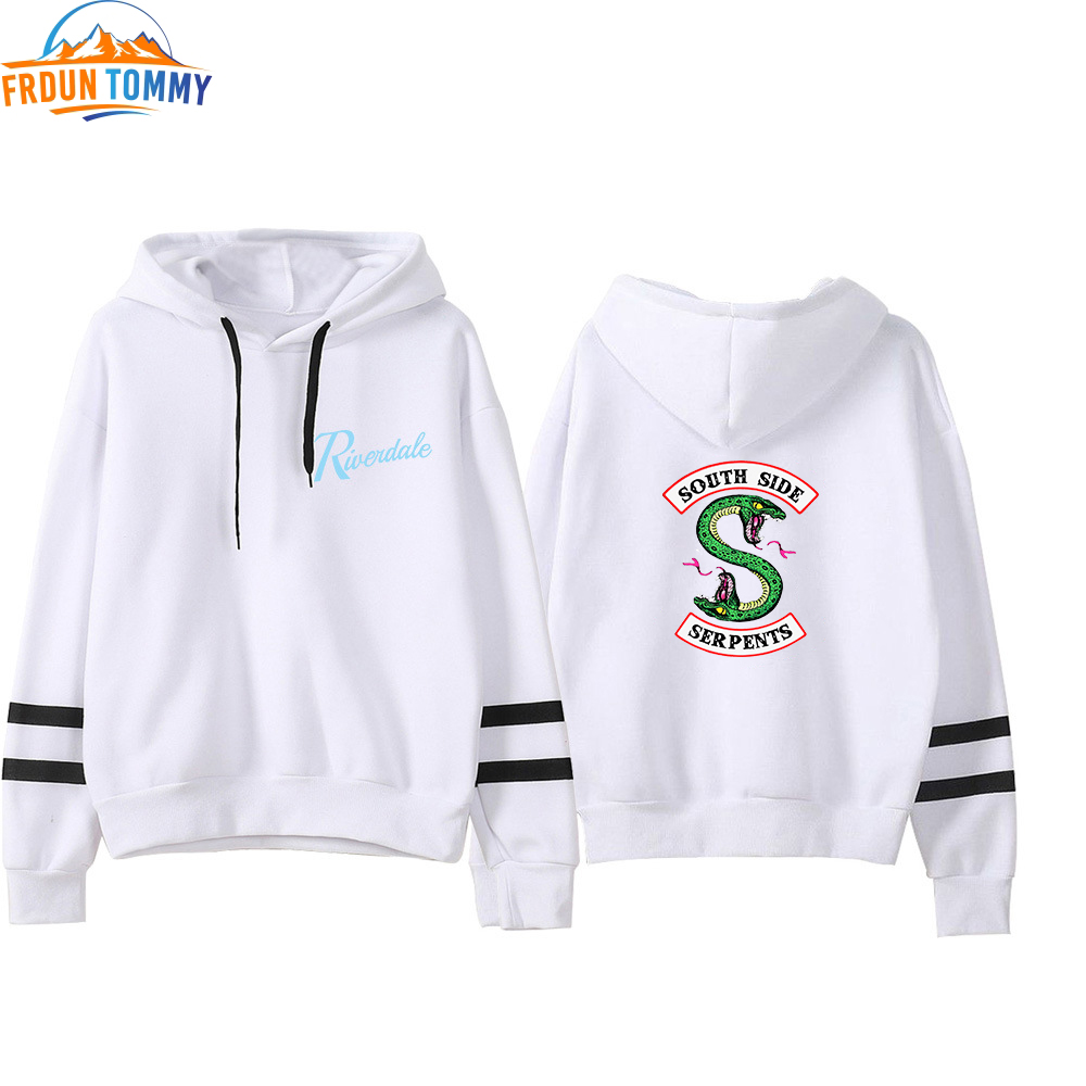 Riverdale Print Hooded Sweatshirts South Side Serpents Oversized Hoodie Riverdale Women Sleeve Pullover Hoodie Casual Clothes