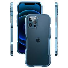 Original metal pára-choques para iphone 12 11 pro x xs max xr 8 7 PLUS SE 2020 caso moldura de alumínio capa protetora para iphone 12 mini moda escudo