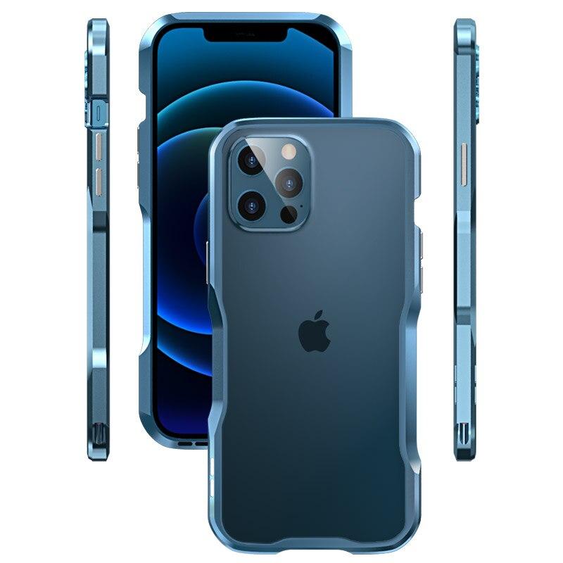 Оригинальный металлический бампер для iPhone 12 11 Pro X XS Max XR 8  7 PLUS SE 2020, чехол с алюминиевой рамкой, защитный чехол для Iphone 12 MINI, Модный чехол