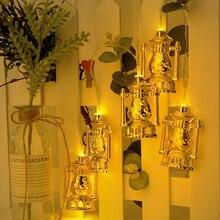 Lantern-String LED Oil-Lamp Battery-Box Ramadan-Light Eid Mubarak Home-Decorative Party