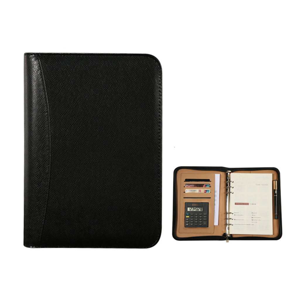 A5 Faux Leather <font><b>Notebook</b></font> <font><b>Spiral</b></font> <font><b>Personal</b></font> Diary Planner Organizer Notepad Travel Agenda Manager Folder Calculator High Quality image