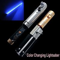 RGB Light Metal Hilt Graflex Collection Base Lit Lightsaber for Heavy Dueling Sword Toys Color Changing Blaster Kids