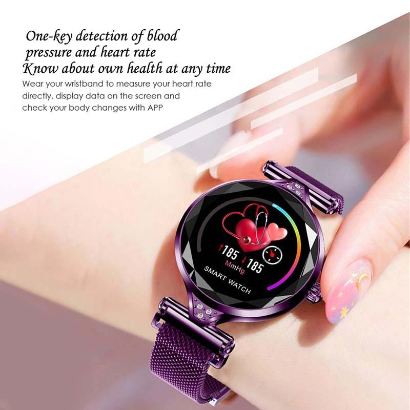 H0358a1c60eb24506a66b61a8f5e46cf2k 2021 Fashion Smart Watch Women IP68 waterproof Multi-sports modes Pedometer Heart Rate smartwatch Fitness Bracelet for Lady Gift