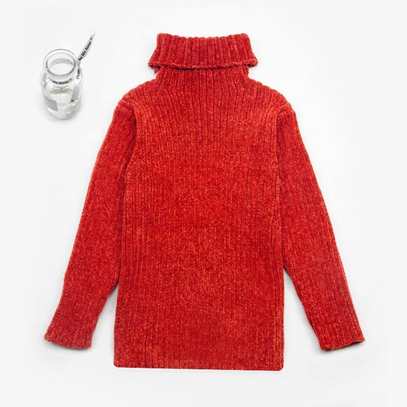 2019 Winter New Style Children Soft Chenille Warm Stripes Sweater Versatile Girls-Trend Of Fashion