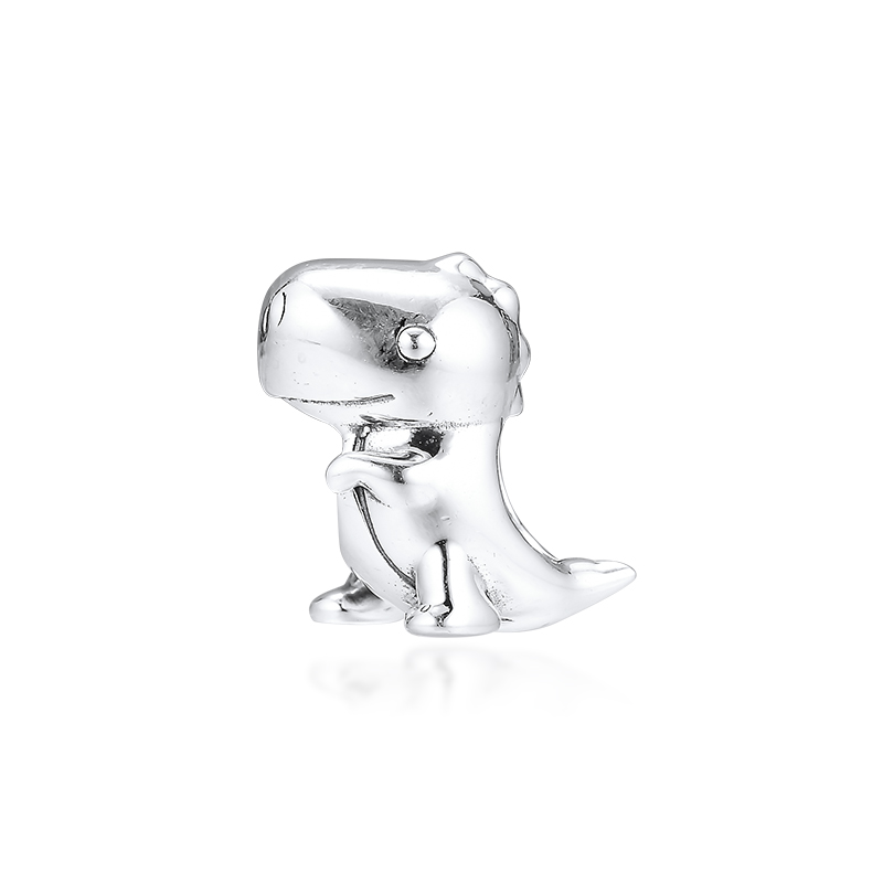 2019 925 Silver Jewelry Fits Pandora Bracelets Dino the Dinosaur Beads Charm Original Making Sterling Silver For Women in Beads from Jewelry Accessories