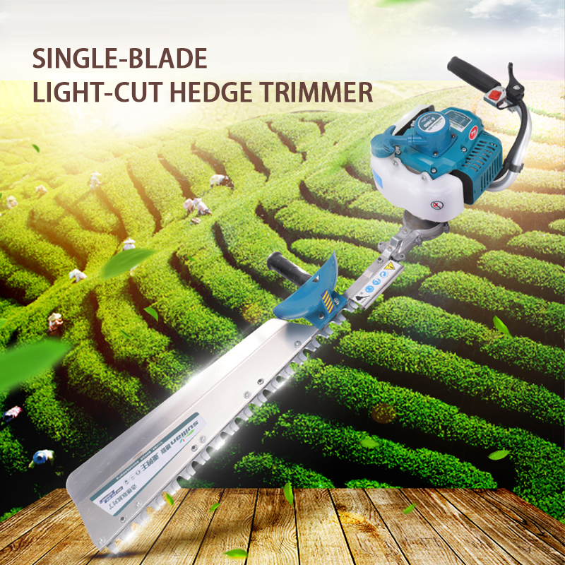Single edged and double edged two stroke gasoline hedge trimmer landscaping scissors tea trimming machine fence shears|Pruning Tools|   - title=