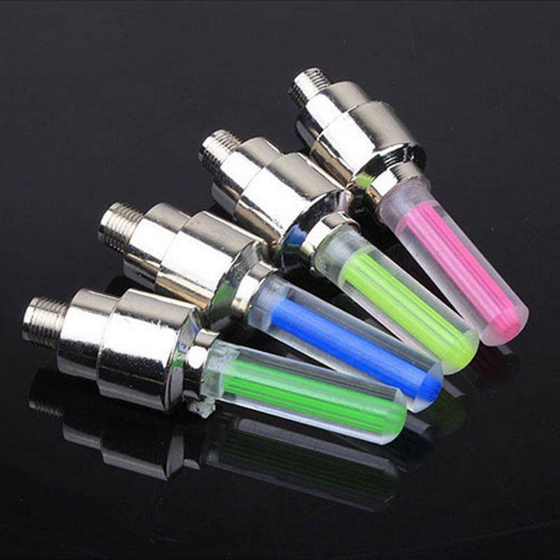 2 Pcs Mobil Lampu Lampu Neon Udara Ban Rim Katup Roda Stem Lampu LED Flash Warna Ban Roda Valve topi Lampu Katup Ban Mobil