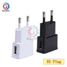 5 в 2A ЕС адаптер штепсельной вилки Белый Черный USB настенное зарядное устройство Быстрая зарядка Путешествия адаптер для смартфона Вход 100-240 В 0.35A