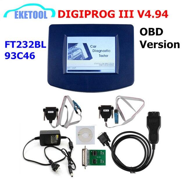 DIGIPROG III V4.94 OBD Version Odometer Programmer Digiprog 3 Mileage Correct Digiprog3 OBD FT232BL&93C46 DIGIPROG OBD ST01 ST04