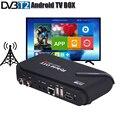 ТВ-приставка DVB T2 Android ТВ-тюнер 4K Смарт ТВ-приставка с двойным режимом dvb-t2 приставка процессор Amlogic S905 четырехъядерный процессор ОС Android 5 1