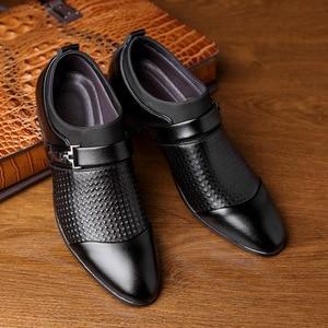 Image 3 - REETENE 2019 Đầm Giày Cưới Giày Da Ý Mũi Nhọn Nam Đầm Giày Tiệc Cưới Giày Nam Oxfords