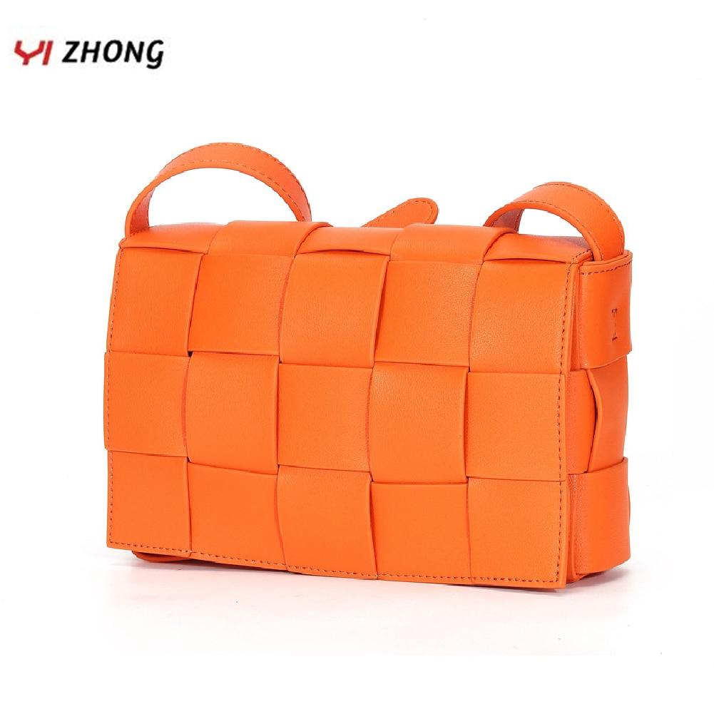 YOZHONG Fashion Knitting Luxury Shoulder Bag Genuine Leather Crossbody Bags For Women Female Brand Designer Purses And Handbags