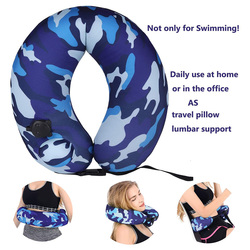 Горячие Портативный плавать кроссовки плавать ming пояс для детей взрослых надувная подушка для шеи для самолета путешествия DO2
