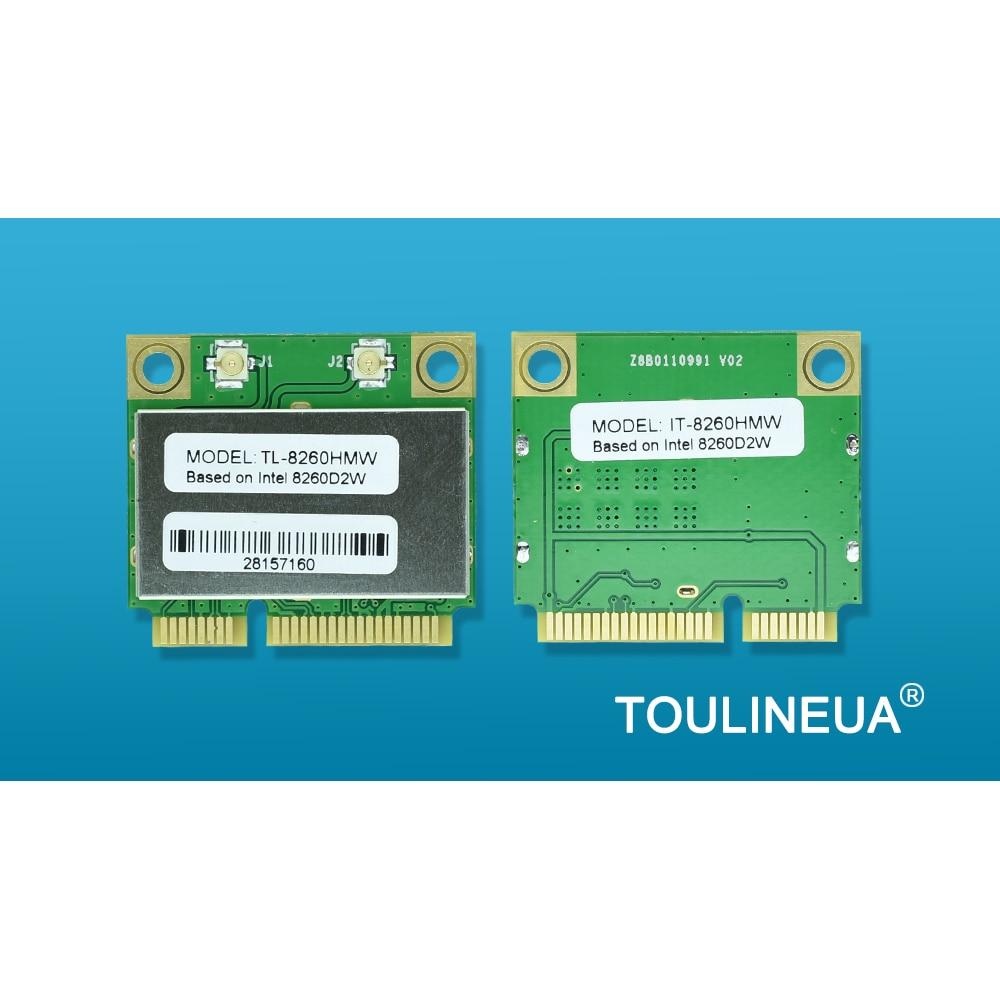 TL-8260HMW intel 8260HMW 8260 Intel8260 8260 AC 8265AC AX200 mini AX200HMW Mini PCIe WiFi Network Card PK 7260HMW 7260AC