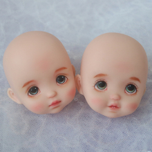 Cute Face Mini Doll Head for 1/8 16cm Doll Smile With Tooth Without Makup Head Suit for ob11 Body