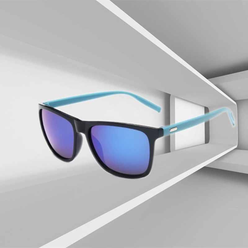 UV400 Cổ Điển Kính Mát Thiết Kế Lái Xe Vuông Gọng Kính Mát Nam Nữ Thương Hiệu Nam Kính Gafas De Sol