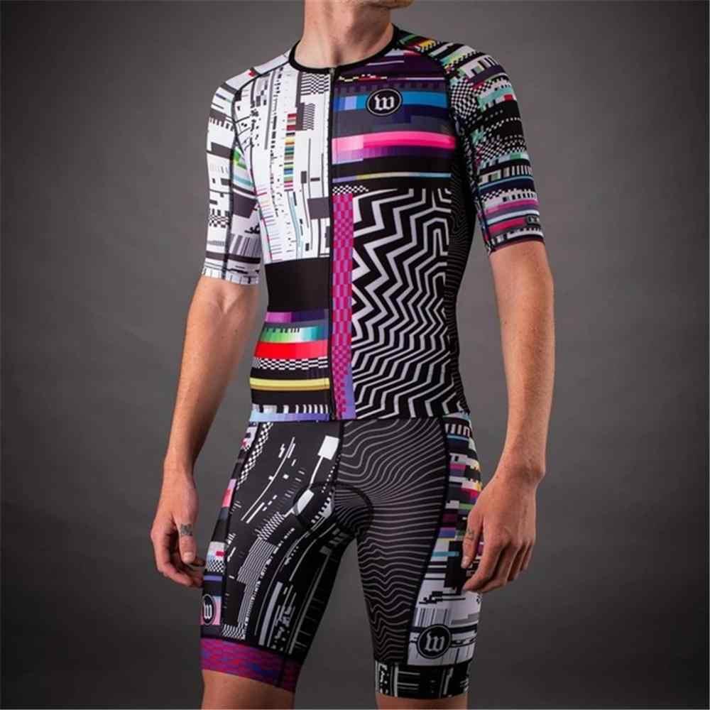 2020 Wattie mürekkep yeni Pro takımı bib takım elbise erkek kısa kollu bisiklet Skinsuit tulum Maillot bisiklet setleri Ropa ciclismo hombre
