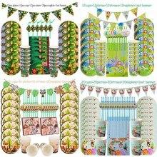 Jungle Verjaardagsfeestje Decoratie Wegwerp Servies Set Jungle Animal Forest Vrienden Dierentuin Thema Benodigdheden Baby Shower Safari