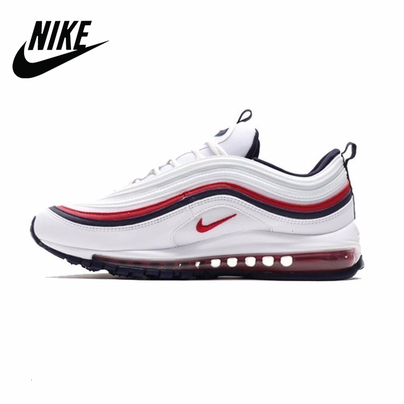 Original Authentic <font><b>Nike</b></font> <font><b>Air</b></font> <font><b>Max</b></font> 97 OG QS Silver Bullet <font><b>Men's</b></font> Sneakers Breatheable Running <font><b>Shoes</b></font> image