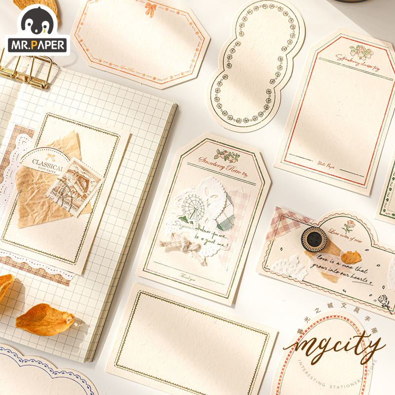 Mr.Paper 6 Designs Versailles Dream Loose Leaf Kawaii Notepads Original Creative Laptop Luggage Celebrating Christmas Memo Pads