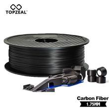 TOPZEAL высокое качество PLA/ABS/PC/PETG/PA углеродное волокно нити 1,75 мм пластиковые резиновые расходные материалы материал используется для 3D принт...