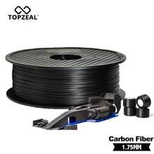 Topzeal alta qualidade pla/abs/pc/petg/pa fibra de carbono filamento 1.75mm plástico borracha materiais consumíveis usado para impressora 3d