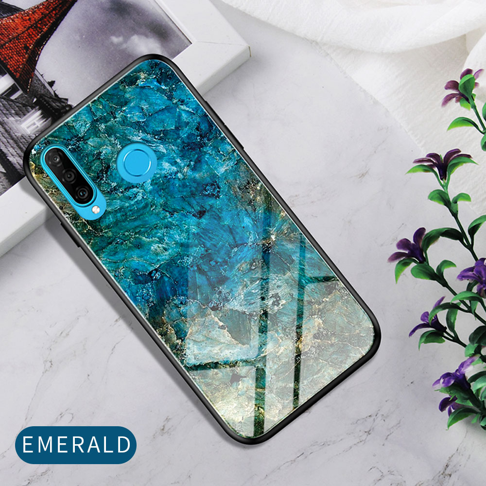 H035abc7d3f354a82a619c3e92f8b1193l Phone Case for Huawei Honor 20s 20 Case Marble Tempered Glass Soft Tpu Frame Back Case for Huawei Honor 20s Honor 20 Pro Case
