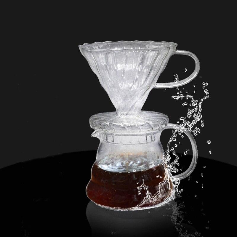 500/300 мл стеклянная кофейная капельница и набор кастрюль для японского стиля V60 стеклянные кофейные фильтры для многократного использования