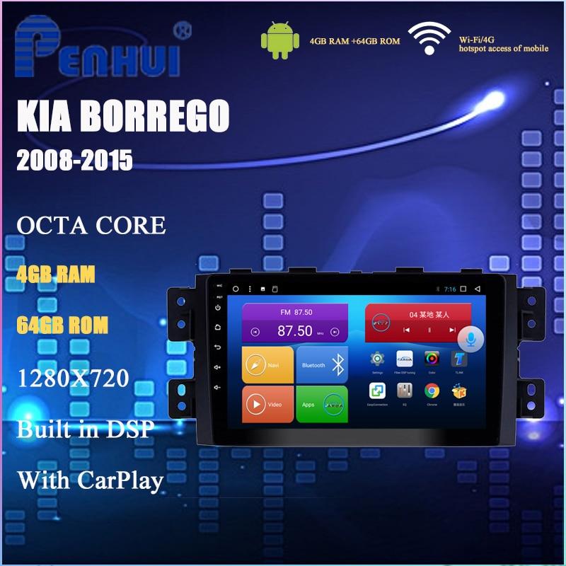 Dvd do carro para kia borrego (2008-2015) rádio do carro reprodutor de vídeo multimídia navegação gps android10.0 duplo ruído
